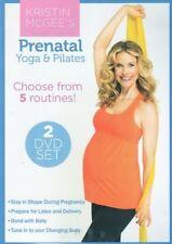KRISTIN MCGEE PRENATAL YOGA & PILATES 2 DVD SET PLUS BAND NEW SEALED PREGNANCY