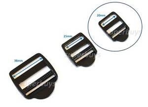 20mm Plastic Ladder Lock - For Webbing Strap Buckle Clip Bag Backpack Fastener