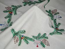 Alte Weihnachtsdecke Mitteldecke  59 cm / 56cm Handarbeit  Shabby Chic Vintage