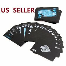Creative Black Waterproof Plastic PVC Poker Magic Playing Cards Table Game Sets