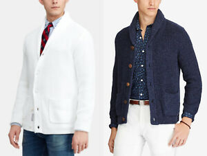 Polo Ralph Lauren Cotton Knit Shawl Cardigan Sweater New