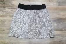 Ann Taylor Loft Skirt Linen Tan Cream Elastic waist Size 0 women's casual