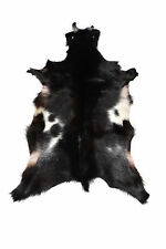Goat skin leather rug 100% natural Portuguese black and white 2000-Now