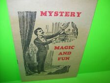 Magic Tricks Catalog Vintage Novelty Mystery Fun Illusions 1920s Warwick Press