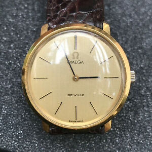 OMEGA De Ville Gold Watch, 33mm (Worldwide shipping)