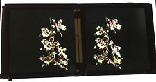 Stereo Glass Dispositive Early Colour Photography of A Flower  C1900