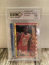 Michael Jordan 1987-1988 FLEER #2 STICKER GEM 10 PRISTINE