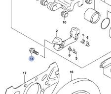 4x NEW Genuine Suzuki JIMNY Front Brake Caliper Pad Carrier BOLTS x4 09117-12012
