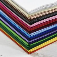"""100% Cotton Fabric Sheeting Plain Solid Colours Craft Material 60"""" Wide Per Mtr"""