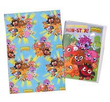Moshi Monster set - 1 sheet of gift wrap, 1 card + envelope, 1 tag