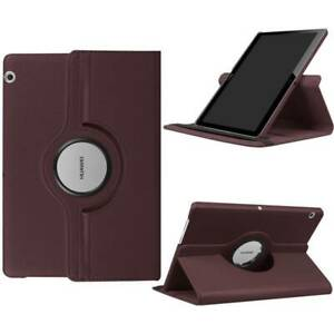 """Rotating Leather Case Cover Stand For Huawei Mediapad T3 T5 10 9.6"""" 10.1"""" Tablet"""