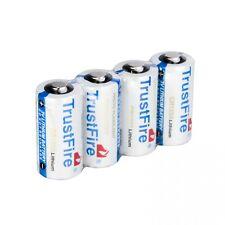 4pcs TrustFire CR123A 1400mAh 3.0V Non-Rechargeable Li-ion Battery White