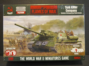 Flames of War Soviet WWII Tank Killer Company. Contains 5 Tanks. [SBX31]