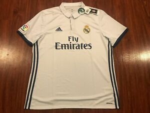 2016-17 Adidas Real Madrid Men's Home Soccer Jersey Extra Large XL La Liga