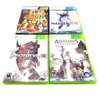 4 Microsoft Xbox 360 Games Prototype 2, Assassins Creed Kinect Adventures Madden