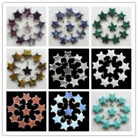 C-029 10pcs Beautiful Carved mixed stone Star pendant bead