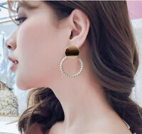 Women Fashion Party Jewelry Lady Elegant Pearl Ear Stud Earrings 1Pair