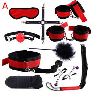 Romantic 10PC Bondage SM Tool Plush quality kit Love restraints BDSM Multicolor