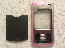 MOBILE PHONE FASCIA HOUSING COVER & KEYPAD FOR NOKIA N80 -  PINK / GREY DESIGN