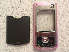 MOBILE PHONE FASCIA HOUSING COVER & KEYPAD FOR NOKIA N80 -  PINK / GREY DESIGN