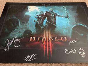BlizzCon 2016 Diablo 3 Necromancer Dev Signed Poster Rare 20x14
