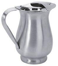 Carafe / Pichet en inox brossé 1 litre   Pot à eau    Solide et stable  H 20 cm
