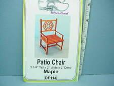 Dollhouse Miniature Patio Chair Kit - Maple - #Df114 Dragonfly Int'L 1/12th
