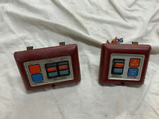 84-90 FORD Ranger BRONCO II WINDOW DOOR LOCK SWITCHES Red Both Sides