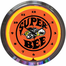 Dodge Super Bee Neon Clock 8SUPER w/ FREE Shipping Neonetics NEW Man Cave