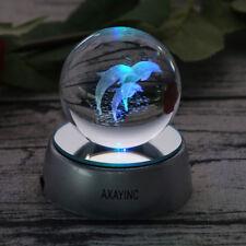 Ocean Animal Dolphin 3D Crystal Ball LED Night Light Table Lamp Christmas Gift
