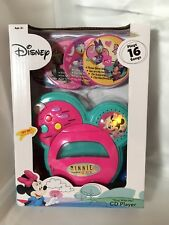 """Disney """"Sing With Me"""" Minnie Mouse CD Player New In Box"""