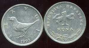 CROATIE CROATIA 1 kuna  1993   ( etat )