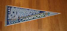 1993 Dallas Cowboys Super Bowl XXVIII Champs Back to Back pennant Aikman Smith