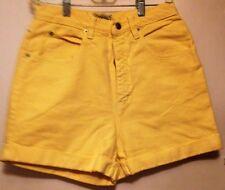 Limited yellow denim shorts size 10 waist is 26 girls