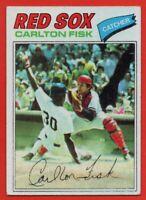 1977 Topps #640 Carlton Fisk VG-VGEX+ HOF Boston Red Sox FREE SHIPPING