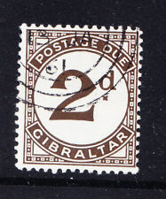 GIBRALTAR 1956 SGD2a 2d Postage Due variety large 'd' - very fine used. Cat £40