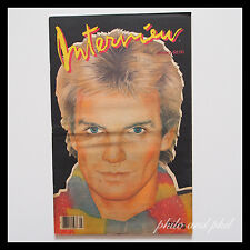 Andy Warhol's Interview Magazine January 1983 Sting Patti Davis Jean Michel
