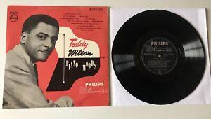 "RARE LP 10"" PIANO JAZZ TEDDY WILSON PIANO MOODS PHILIPS HOLLAND"
