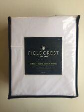 Supima Satin-Stitch Hotel Full Sheet Set Fieldcrest Percale White OEXO-TEX NEW