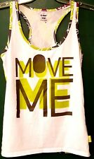 ZUMBA RN 131301 ~MOVE ME~ Racerback Training/Workout Tank - Size: LARGE