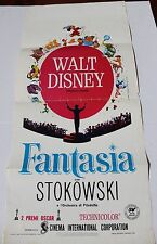 1946 FANTASIA Italian Locandina Movie Poster and 50th Anniversary Program