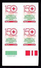 Italia 2014 : Croce Rossa - quartina con codice a barre, MNH**