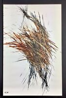 Kris Haas Original Abstract Oil Painting Signed Numbered And Dated 17x11 Paper