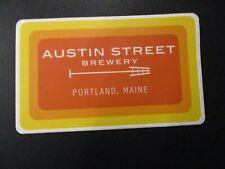 AUSTIN STREET BREWERY Portland Maine Patina orn STICKER decal craft beer brewing