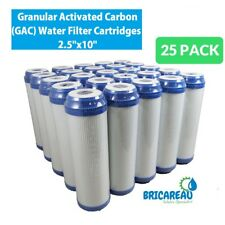 "25 Pack Granular Activated Carbon GAC Water Filter Cartridges 2.5""x10"""