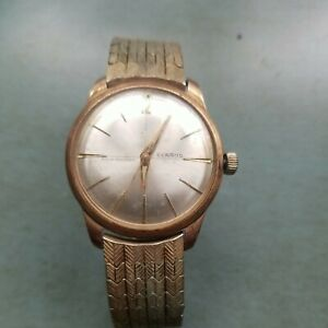 Vintage Benrus Wrist Manual Wind Gold Electroplated Men's Watch Series #3021