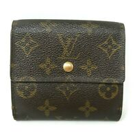 Louis Vuitton Trifold Tresor Porte Feiulle Monogram Canvas Wallet Hand Bag Auth