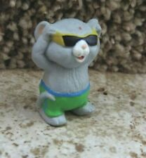 💖 Gray Beach Mouse in Sunglasses & swim suit 💖 Hallmark Merry Miniatures 1993