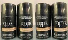4 Toppik Hair Building Fibers- Light Brown- Full Hair Instantly 0.42 oz/12 g ea.