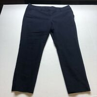 Loft Size 14 Dark Blue Ankle Crop Pants A517
